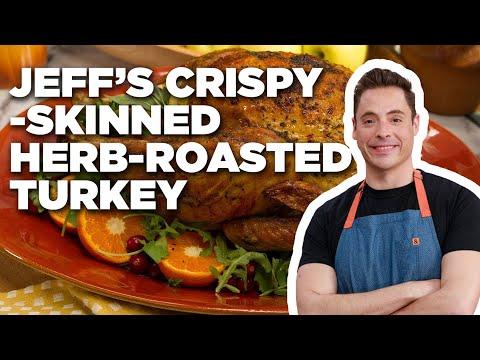 Jeff Mauro's Crispy-Skinned Herb-Roasted Turkey | Food Network