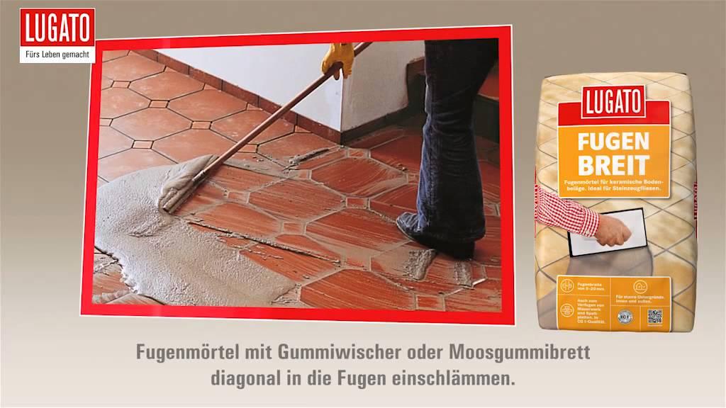 Fußboden Fliesen Neu Verfugen ~ Anleitung bodenfliesen einfach verfugen mit lugato fugenbreit