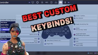 The BEST Custom Controller Keybinds For PS4/Xbox Fortnite