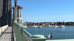 Bridge opening to let boats through. St Augustine, Florida 23/01/2014
