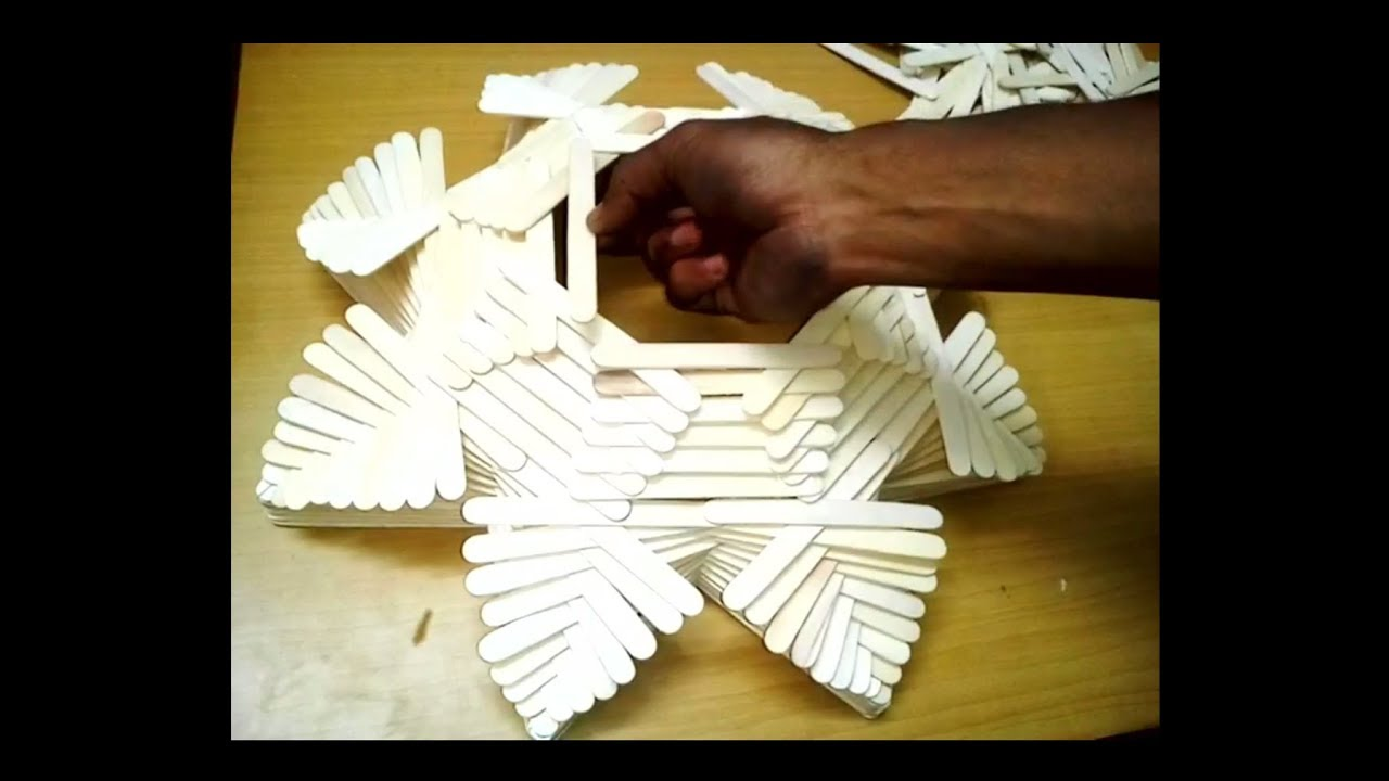 How To Make Fruit Basket With Ice Cream Stick Easy Handicraft
