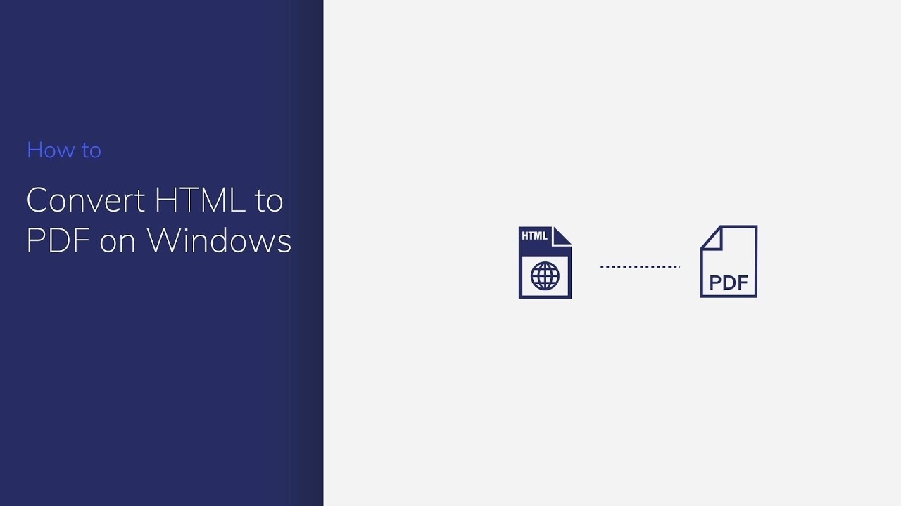How to Convert HTML to PDF Files in Windows test