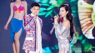 Đông Nhi diện váy ngắn nóng bỏng khoe sắc cùng 43 Người Đẹp Biển Hoa Hậu Việt Nam 2018