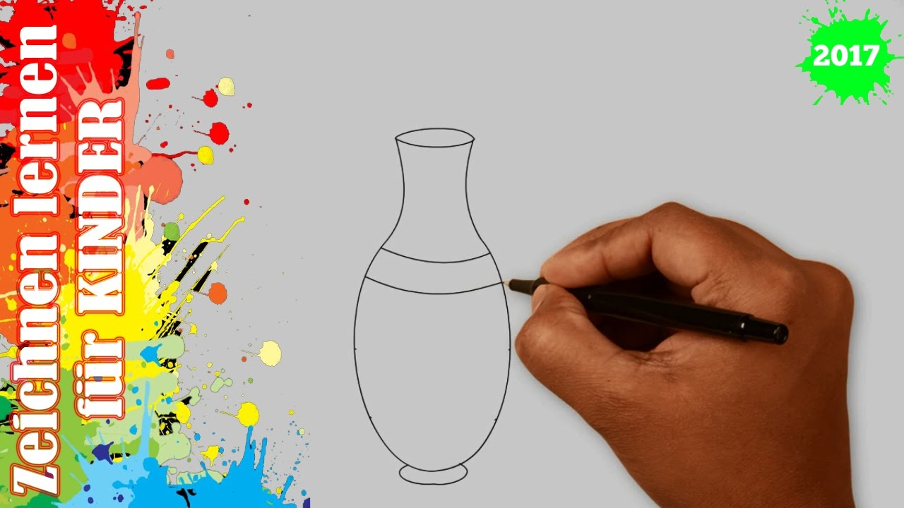 vase zeichnen in 50s zeichnen lernen f r anf nger kinder youtube. Black Bedroom Furniture Sets. Home Design Ideas