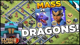 Town Hall 13 Level 8 Mass Dragon Meta! Such a strong attack! | Clash of Clans