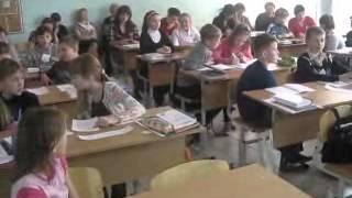 Урок русского языка в 5В классе