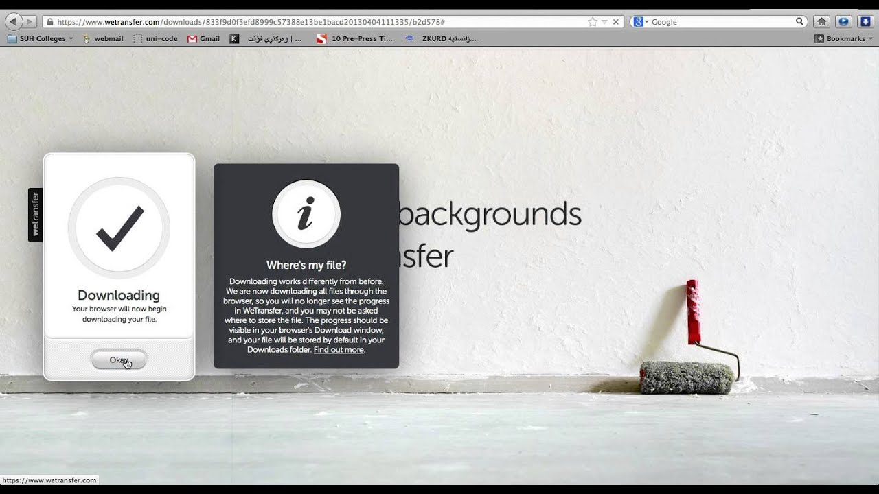Wetransfer Download Tutorial - YouTube