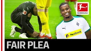 Great Fair Play Gesture - Alassane Plea Laces Leipzig Keeper's Boots