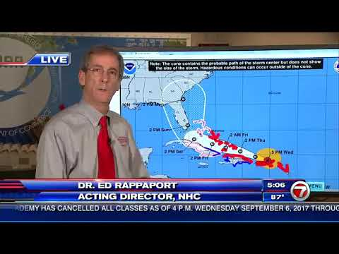INCREASED RISK    Dr  Ed Rappaport, Acting Director of the National Hurricane Center, says the risk