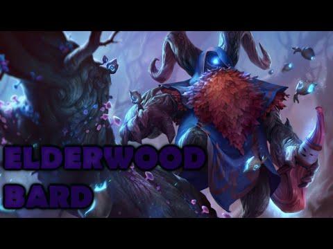 Elderwood Bard Skin Spotlight Gameplay - League of Legends