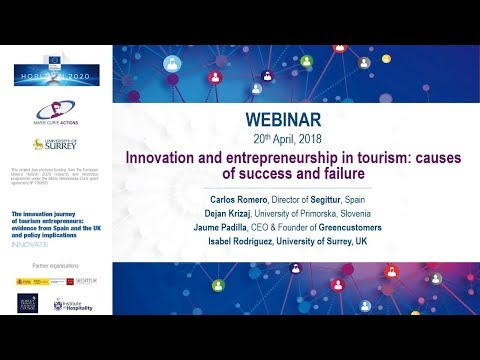 Webinar Innovation and entrepreneurship in tourism: causes o