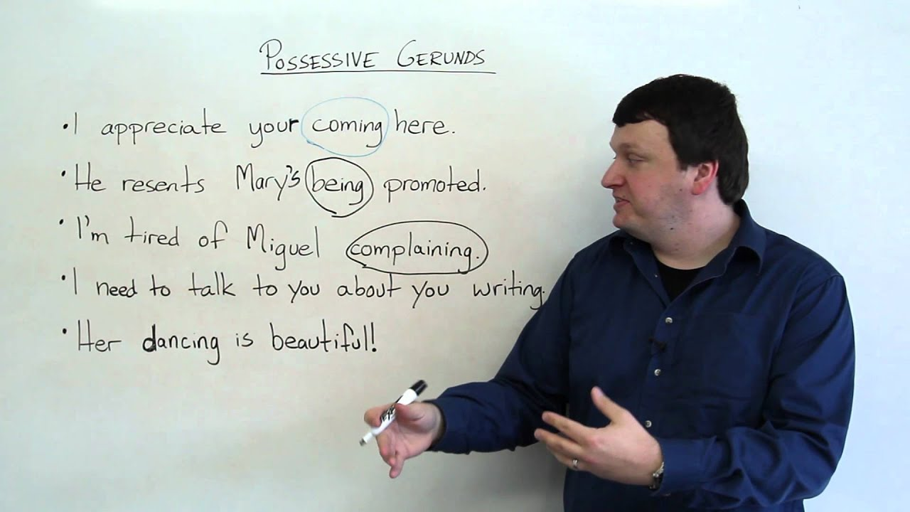 possessive gerunds