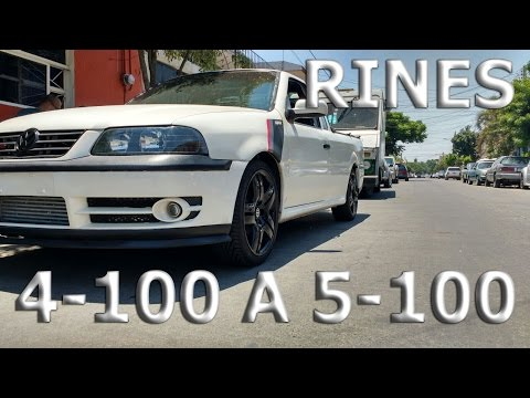 Cambiando Rines de 4-100 a 5-100 Long Beach Pointer TURBO