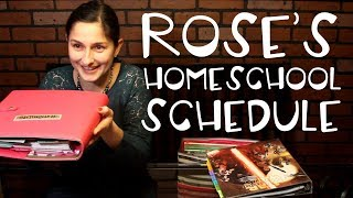Our Typical Homeschool Day // What Rose Knows