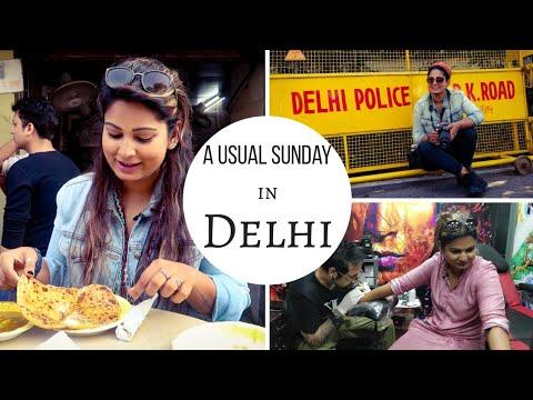 Favourite Street Food In Delhi, Agrasen Ki Baoli, Tattoo Studio | Cheap Places To Hangout