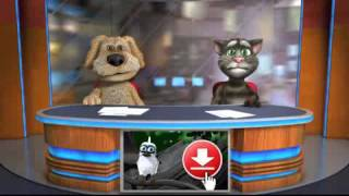 Прикольные говорящие кот Том и собака Бен рассказывают сешные новости   Мультфильм