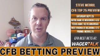 College Football Week 4 Picks and Predictions | Notre Dame vs Wisconsin | WVU vs Oklahoma Previews