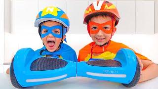 Download Vlad dan Niki menjadi superhero pada Scooter dan membantu ibu