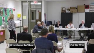 District 96 Board of Education Committee of the Whole Meeting 10-05-16