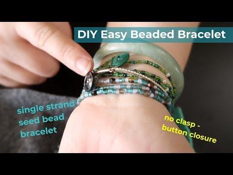 DIY Easy Beaded Bracelet - single strand seed bead
