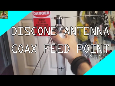 Discone Antenna - Coax Feed Point