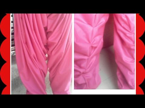 Easy  simple Salwar and khajuri salwar cutting and stitching video ( Hindi)