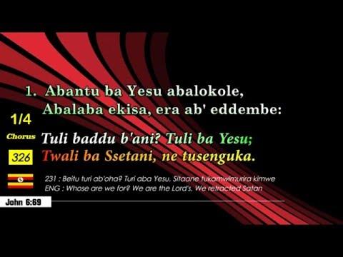 HYMN 326 Abantu ba Yesu abalokole Luganda Church Of Uganda1