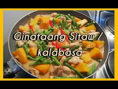 Ginataang Sitaw + Kalabasa