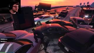 GTAV PC Online Funny Moments   5 STAR MILITARY BASE RAID!