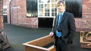 Children's Recycled Plastic Raised Bed with Seating