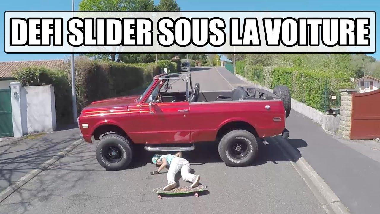 DEFI : passer sous une voiture en LONGBOARD ! (feat. Laurent Perigault & Alex Kubiak Ho-Chi)
