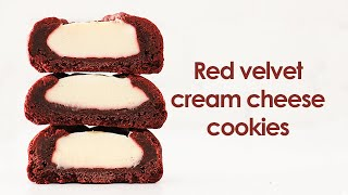 Sub) 이건 맛없을수가 없다..❤레드벨벳 크림치즈 쿠키Red Velvet Cream Cheese Cooki…