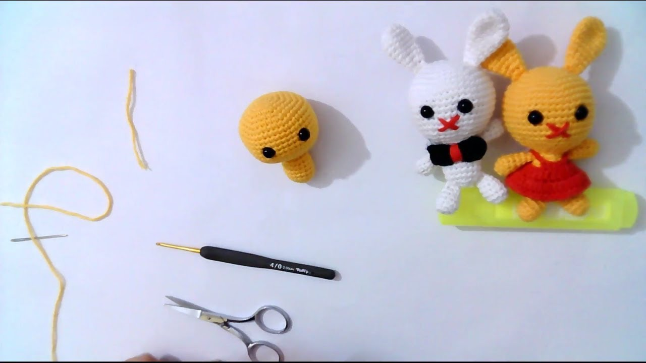 Amigurumi Tavşan Anahtarlık 1 (Baş ve Gövde) Rabbit Key Chain 1 (Head and  Body) - YouTube | 720x1280