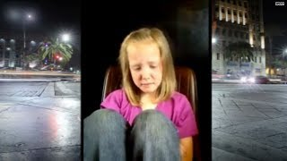 8-year-old tearfully describes being bullied in video