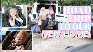 9 Hour Car Ride with a Baby & Toddler by Myself! | Moving Vlog