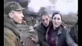 Запрещенное видео в России. +18. Русские солдаты расстреливают чеченскую семью 1999
