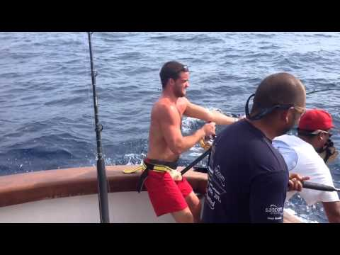 Blue Marlin Fishing On The Fishing Vessel TIJERETA In Costa Rica