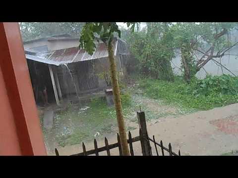 REAL DESTRUCTIVE HAIL STORM IN WEST BENGAL, INDIA | SanGeotics