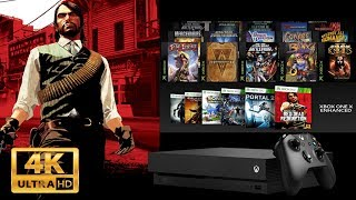 Xbox One X Gets The Biggest Game Of All Time In Native 4K! Red Dead Redemption & Many More!