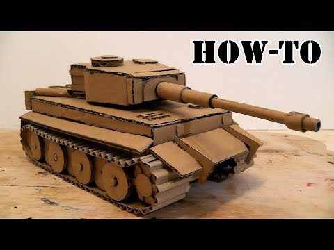 How to make a Battle Tank with Cardboard on the hydraulic drive\\Amazing Toy DIY