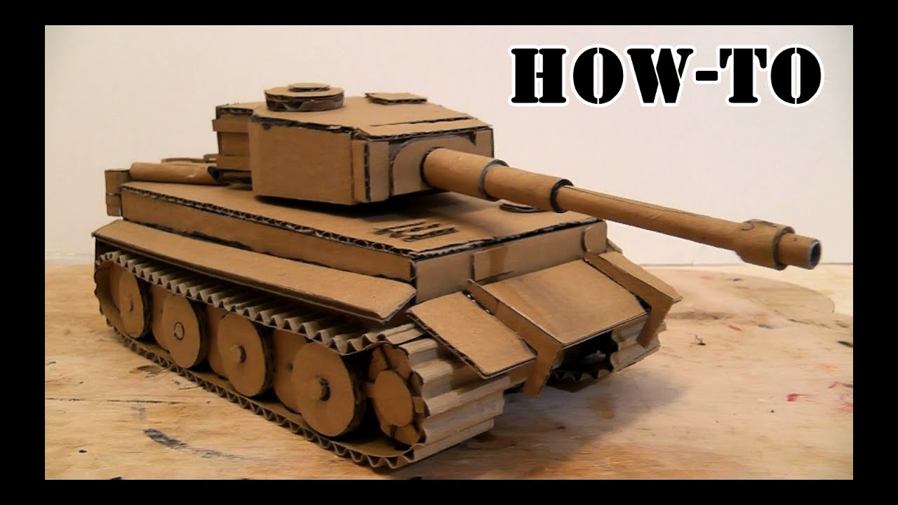 Cardboard Hydraulic Ar : How to make a battle tank with cardboard on the hydraulic