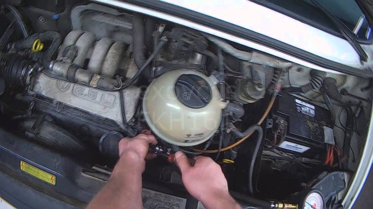 vw t4  2 5l no start  checking fuel pressure