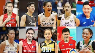 10 Filipino Volleyball Players Who's being recognized in the international stage of volleyball