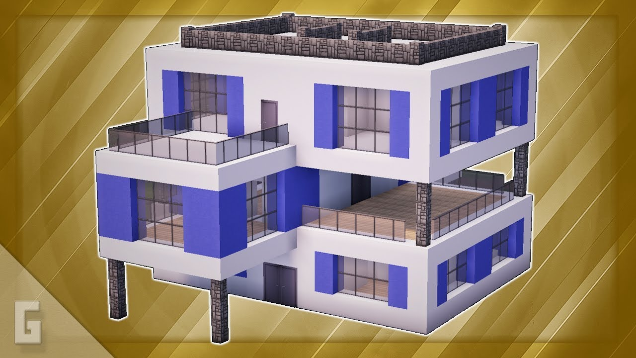Minecraft How To Build A Large Modern House 43