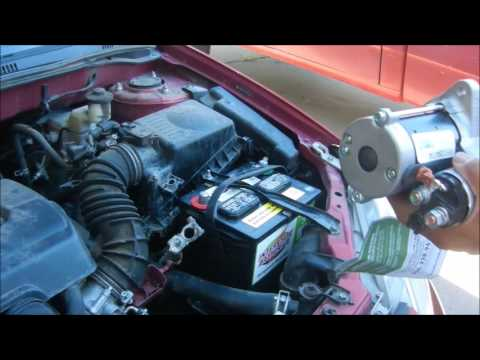 How to replace a starter on a 2005 toyota corolla