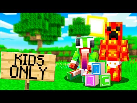 I Hacked into a KIDS ONLY Minecraft Server...