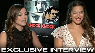 Ana de Armas and Lorenza Izzo Interview - Knock Knock (HD) 2015