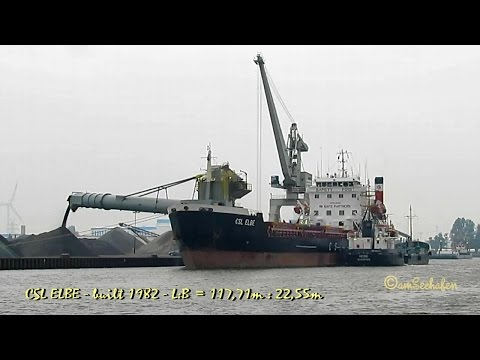 CSL ELBE 9HJE8 IMO 8001024 Emden Germany self discharging bulk carrier seaship Selbstentlader