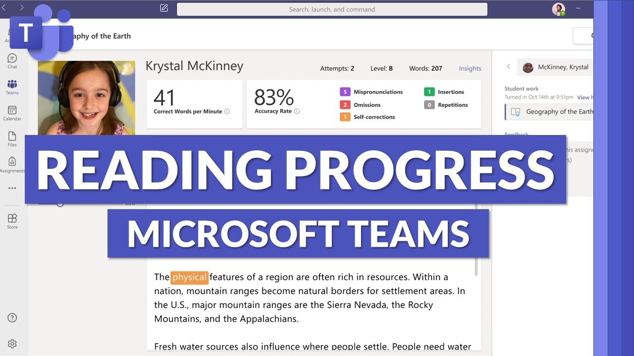 Reading Progress in Microsoft Teams | Improve student reading fluency, save time and track progress