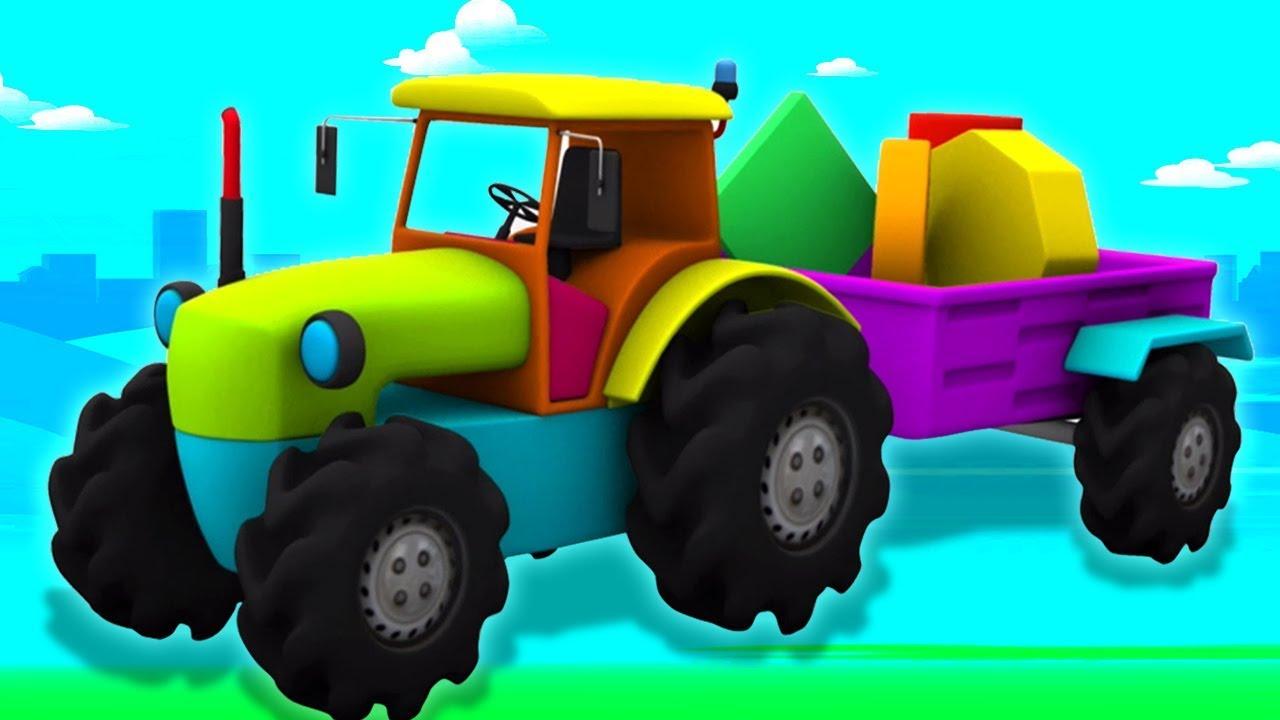 traktor   anak-anak truk unboxing   CartoonTractor   Kids Toys   Unbox Tractor   Educational Video
